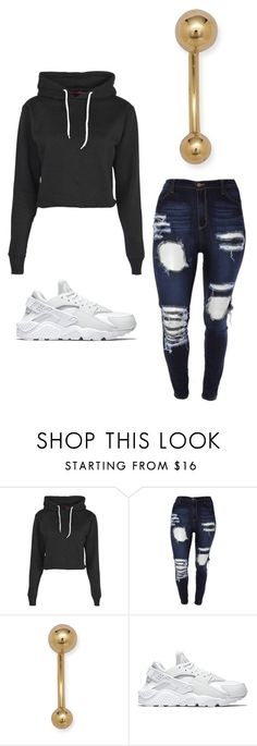 """""""Outfit Idea by Polyvore Remix"""" by polyvore-remix ❤ liked on Polyvore featuring Boohoo and NIKE"""