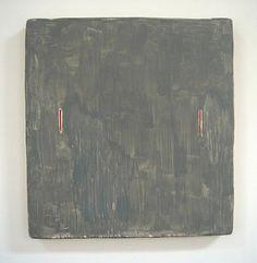 Otis Jones. Gray Rectangle with Two Red Lines