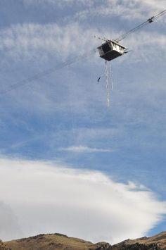 134 meter Nevis Bungy Jump in Queenstown, New Zealand