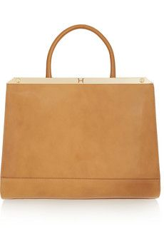 19dd5bfd2b Halston Heritage Glossed and textured-leather tote