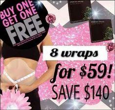 BOGO sale extended to midnight TONIGHT (11/29/14). Get 8 wraps for 4!!  It pays to be Loyal!  www.cheyb.myitworks.com  www.facebook.com/WellnessWrapBoom