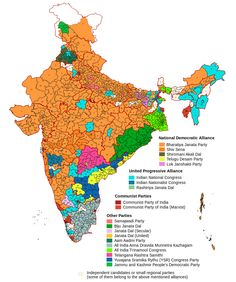 Results of the Indian general election, 2014 #map #india