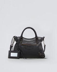V151N Balenciaga Classic Town Bag, Black