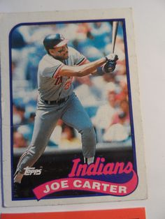 Cleveland Indians Sports Cards 10 pc Set With Joe Carter 89 Topps 90 John Farrell Safely Stored For Over 28 Years This Will be a great Gift for any Fan Shipping will be within 2 days of your payment All Sales are Guaranteed Satisfaction We. Cleveland Indians, All Sale, Great Gifts, Fans, Baseball Cards, Sports, Hs Sports, Sport