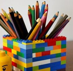 Simple Lego Desk Organizer