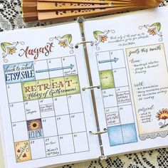 Cute colored in monthly calendar layout