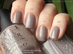 OPI Berlin There Done That and ESSIE Chinchilly by Silkа, via Flickr