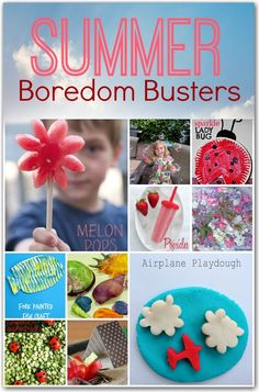 Summer boredom busters for kids - great Summer activities to keep the kids entertained.