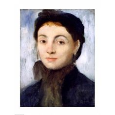 Portrait of Josephine Gaujelin 1867 Canvas Art - Edgar Degas (24 x 36)