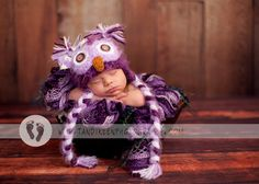 Baby Girls Owl Hat Newborn 0 3m 6m Fuzzy Purple Crochet Sale Photo Prop Girls  Clothes Super Soft SWEET Perfect Anytime. $34.95, via Etsy.