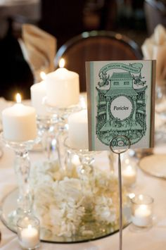 Shakespeare Inspired Table Numbers