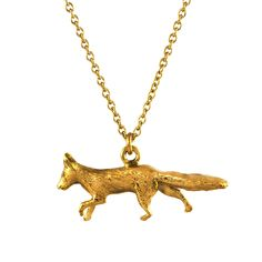 ALEX MONROE Prowling Fox Necklace, I want this Fox.