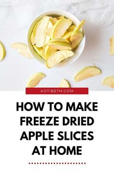 Harvest Right freeze dryer ideas for freeze dry fruit at home. Freeze drying food recipes let you preserve food for up to 25 years! Learn how to freeze dry food to preserve your harvest. This freeze dried apples recipe is easy to make at home. Freeze dried food can be eaten plain or used in recipes. Freeze dried apples recipes are so easy to make. Freeze drying food diy is easy with a home freeze drying machine, but I also have directions to use dry ice or your home freezer. Dried Apple Chips, Dried Apples, Harvest Right Freeze Dryer, Yummy Drinks, Yummy Food, Freeze Dried Fruit, Freeze Drying Food, Apple Harvest, Apple Recipes