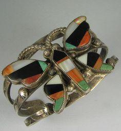 Stunning Zuni mosaic inlay..bracelet..