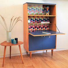 Secretary, storage, desk, mid century modern, vintage, 60s by ChouetteFabrique on Etsy https://www.etsy.com/au/listing/224291411/secretary-storage-desk-mid-century