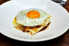 New favorite dish added from Contributing Chef Kris Yenbamroong. #Pane #frattau from Sotto. #pork coratella #braised #bread #burrata #cheese #cardoons #devilsgulch #tomato #sugo #fried #egg #italian #dinner #justfood #LA #chefsfeed