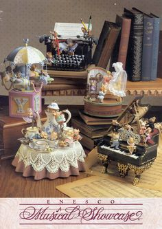 music boxes the tea party table is pretty