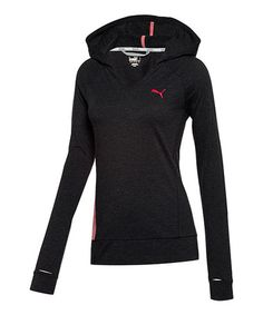 a082fc792c39 Black Heather Favorite Hooded Cover-Up by PUMA on  zulily today! Nike  Workout