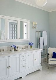 Powder Blue Bathroom
