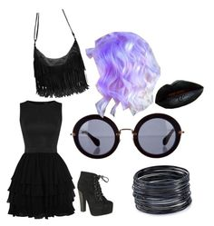 """""""all black"""" by ivaniaiscool ❤ liked on Polyvore featuring Breckelle's, Miu Miu and ABS by Allen Schwartz"""