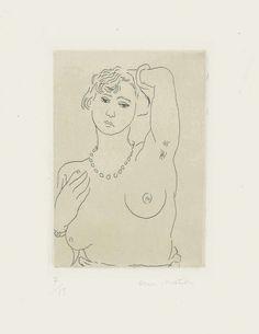 Henri Matisse, 'Buste de femme avec collier et bracelet', 1926