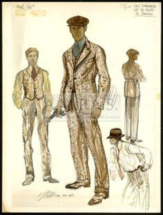 BONNIE AND CLYDE | costume design drawing(s) | Van Runkle, Theadora | Beatty, Warren