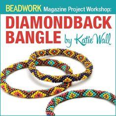 Beadwork Magazine Project Workshop: Diamondback Bangle by Katie Wall   InterweaveStore.com