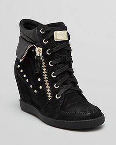 Love my new kicks! GUESS Wedge Sneakers - Hitzo | Bloomingdales