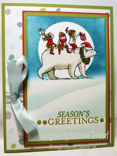 Bearing Gifts Stampin' Up! Christmas Card created by Michelle Zindorf