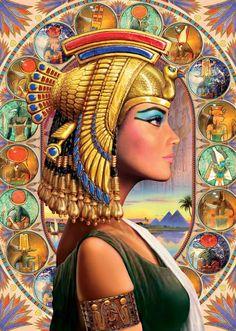 Queen Nefertari and her fascinating tomb Egyptian Symbols, Ancient Egyptian Art, Egyptian Goddess, Bastet Goddess, Old Egypt, Egypt Art, Fantasy Kunst, Fantasy Art, Goddess Art