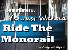 Sometimes, ya just wanna ride the monorail...