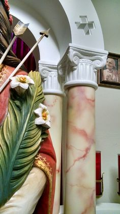 Progress on the Saint Philomena shrine - CMRI chapel - statue by Ferdinand Stuflesser