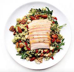 quinoa salade met kip en gojibessen