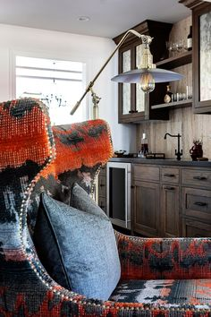 Youthful energy, bold colors, and quirky design accent this Altadena home. Bold Colors, Most Popular Image, Designers, Interior Design Images, Houzz, Patterns, Projects, Block Prints, Bright Color Schemes