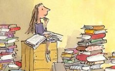 Matilda by Roald Dahl. I also love the BFG by Roald Dahl I Love Books, Good Books, My Books, Girl Reading Book, Reading Lists, Reading Art, Happy Reading, Reading Quotes, Reading Books