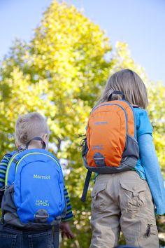 Marmot Kid's Half Hitch Packs - Blue and Orange. PHOTO: Ben Lucero