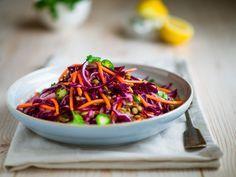 Vitaminbombe Coleslaw mit Karotten und Rotkraut