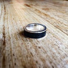 Raw Black Onyx Band Ring | Bohemian Jewelry | Indie and harper