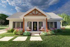 Farmhouse Style House Plan - 2 Beds 2 Baths 988 Sq/Ft Plan #126-236 - Eplans.com Best House Plans, Small House Plans, 1200sq Ft House Plans, 2 Bedroom House Plans, Ranch House Plans, Small Floor Plans, Mini House Plans, Family House Plans, House Plans With Porches