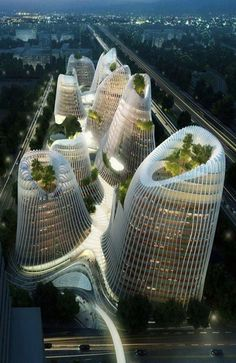 'shan-shui city' by ma yansong, guiyang, china This is a modern bet in favor of architecture Unique Buildings, Interesting Buildings, Amazing Buildings, City Buildings, Future Buildings, Office Buildings, Garden Buildings, Architecture Unique, Futuristic Architecture