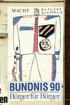 Bündnis 90, poster for Volkskammer elections March 1990