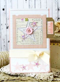 Star Light Star Bright Card by Melissa Phillips for Papertrey Ink (April 2014)