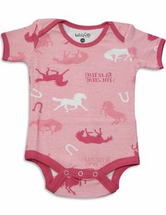 Horse Print Onesie for Baby Girls 12-18Months