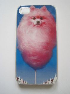 iPhone 4 Cover Cotton candy dog... This looks like Bear! (except for the fact that it's cotton candy:)) @Nikki Staubli @Kristie Flatley @Kathie Flatley
