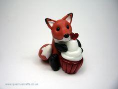 Little Fox with Glass Cupcake (cupcake by Phoenix Glass) (£35)
