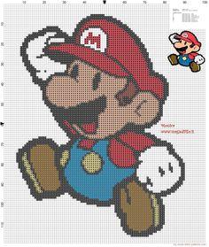 """Delicado Cantinho: Gráficos Ponto Cruz """"Super Mario"""""""