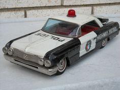 Vintage Japan Tin Litho Cragstan 62 Buick Invicta Police Highway Patrol Car