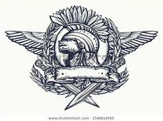 Spqr Tattoo, Spartan Tattoo, Roman Helmet, Italian Tattoos, Gladiator Helmet, Army Tattoos, Helmet Tattoo, Spartan Helmet, Roman History