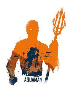 Aquaman Poster Design geek wall art Print many by 2ToastDesign
