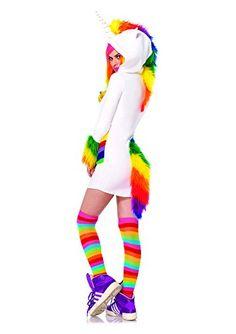 Leg Avenue 85316 - Cozy Unicorn Kostüm, Größe M, weiß